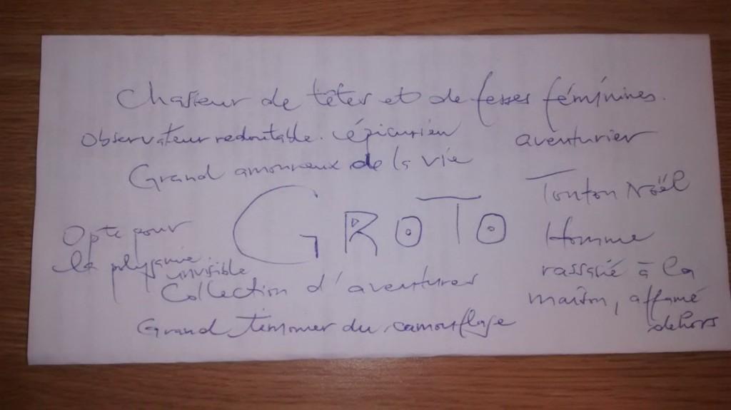 Liste non exhaustive des  attributs du groto à la togolaise